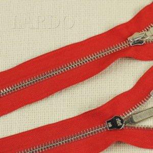 Молния Ri-Ri, неразъёмная, однозамковая, 20 см, №6, красная, шлифованная
