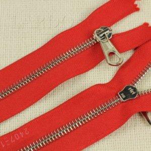 Молния Ri-Ri, неразъёмная, однозамковая, 18 см, №6, красная, шлифованная