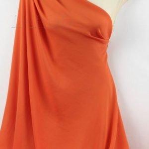 Шифон креп шёлковый красно-оранжевый