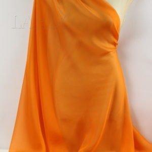 Шифон шёлк ярко-оранжевый
