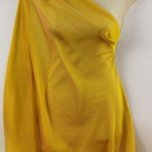 Шифон шёлковый шанжан жёлто-розовый