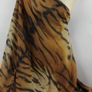 Шифон шёлк тигр