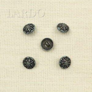 Пуговица металл, эмаль коричневая ∅ 1,5 см