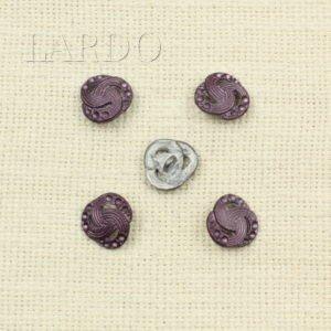 Пуговица металл фиолетовая ∅ 1,7 см