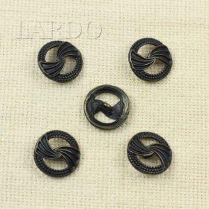 Пуговица на ножке металл ∅ 2,2 см оксид чёрного цвета