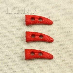 Пуговица красная пластик 4 см