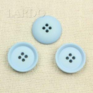 Пуговица серо-голубая пластик ∅ 3,3 см