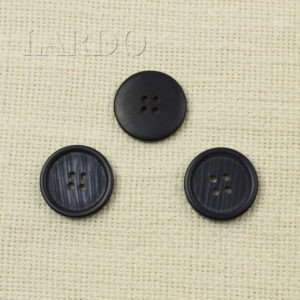 Пуговица пластик разноцветный ∅ 2,0 см серого цвета