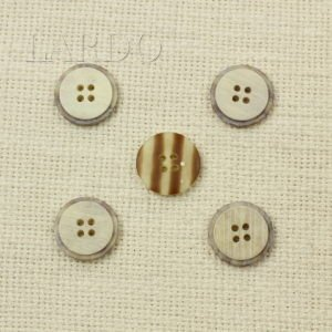 Пуговица в полоску круглая пластик ∅ 2 см