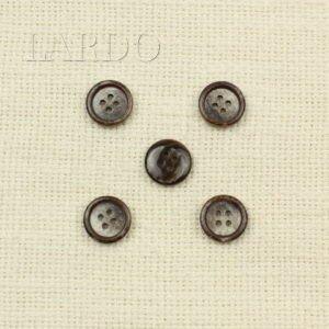Пуговица тёмно-коричневая пластик ∅ 1,5 см