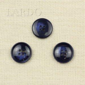 Пуговица синяя пластик ∅ 2,5 см