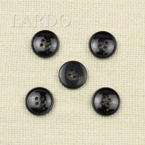 Пуговица пластик ∅ 2,0 см тёмно-коричневая