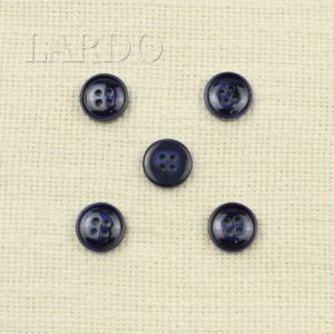 Пуговица синяя пластик ∅ 1,5 см