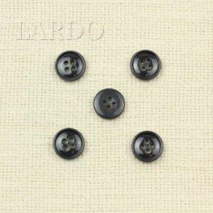 Пуговица тёмно-серая пластик ∅ 1,5 см