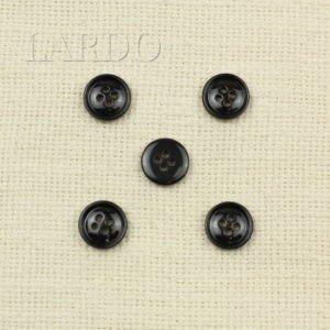Пуговица пластик ∅ 1,5 см тёмно-коричневая