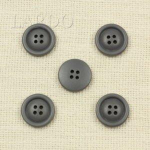 Пуговица пластик ∅ 2,3 см серого цвета