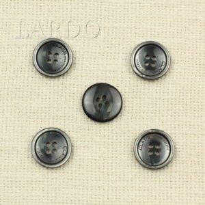 Пуговица пластик ∅ 2,0 см серого цвета с перламутром