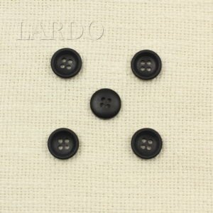 Пуговица пластик ∅ 1,5 см чёрная