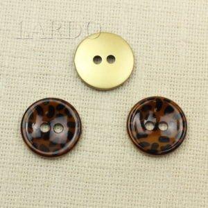 Пуговица пластик ∅ 4,5 см коричневая и бежевая