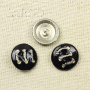 Пуговица металл и эмаль ∅ 2,6 см