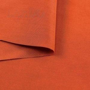 Батист красно-оранжевый шёлк с хлопком