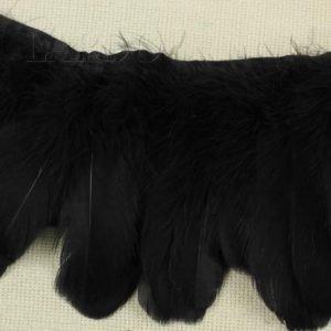 Тесьма куриное перо, чёрная