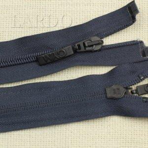 Молния разъёмная, однозамковая, 57 см, №5, тёмно-синяя