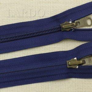 Молния YKK разъёмная, однозамковая, реверс (перекидной бегунок) 70 см, №5, тёмно-синяя