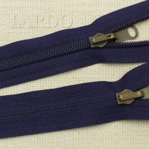 Молния YKK разъёмная, однозамковая, реверс (перекидной бегунок) 75 см, №5, тёмно-синяя
