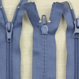 Молния разъёмная, двухзамковая, 85 см, №5, серо-голубая