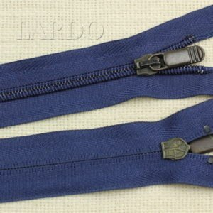 Молния разъёмная, однозамковая, 50 см, №5, тёмно-синяя