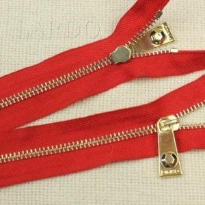 Молния PINKO неразъёмная, однозамковая, 25 см, №4, красная