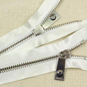 Молния PINKO неразъёмная, однозамковая, 50 см, №5, белая