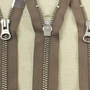 Молния YKK разъёмная, двухзамковая, 60 см, №5, коричневая