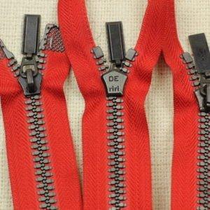 Молния Ri-Ri ТРАКТОР, разъёмная, двухзамковая, 43 см, №5, красная