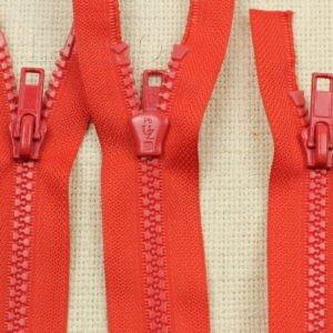 Молния UNIZIP ТРАКТОР, разъёмная, двухзамковая, 44 см, №5, красная