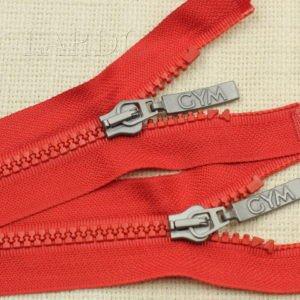 Молния ТРАКТОР, разъёмная, однозамковая, 46 см, №5, красная