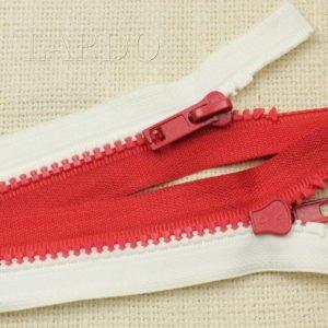 Молния ТРАКТОР, разъёмная, однозамковая, 80 см, №5, красно-белая СПАРТАК