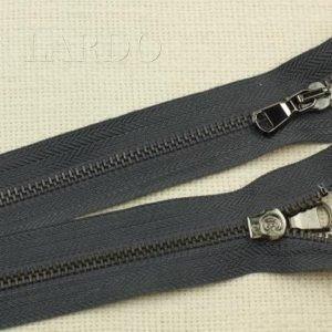 Молния разъёмная, однозамковая, 45 см, №5, тёмно-серый