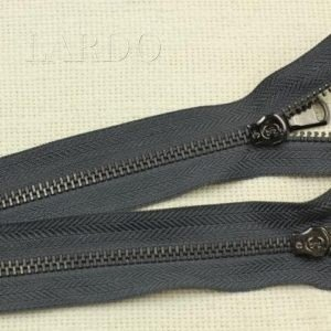 Молния разъёмная, однозамковая, 52 см, №5, тёмно-серый