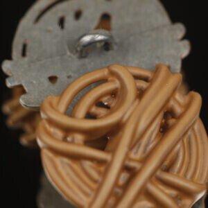 Пуговица на ножке металл ∅ 2,5 см светло-коричневая