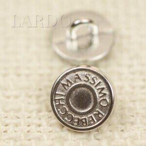 Пуговица на ножке металл Massimo Rebecchi ∅ 1,1 см никель