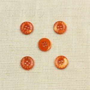 Пуговица перламутр красный ∅ 2,3 см