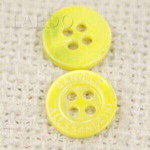 Пуговица перламутр лимонный ∅ 1,2 см