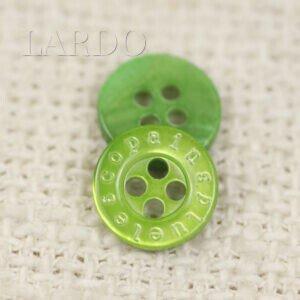 Пуговица перламутр ∅ 1,1 см ярко-зелёный
