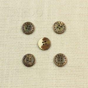 Пуговица перламутр коричневый ∅ 1,5 см