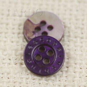 Пуговица перламутр фиолетовый ∅ 1,1 см