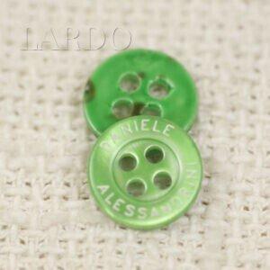 Пуговица ярко-зелёный перламутр ∅ 1,1 см