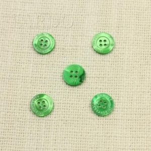 Пуговица перламутр ∅ 1,5 см ярко-зелёный