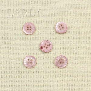 Пуговица перламутр розовый ∅ 2 см